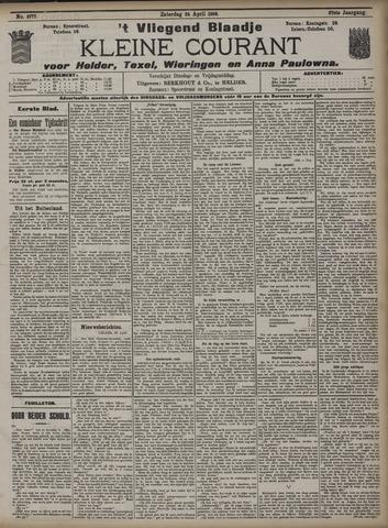 Vliegend blaadje : nieuws- en advertentiebode voor Den Helder 1909-04-24