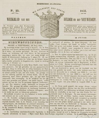 Weekblad van Den Helder en het Nieuwediep 1855-06-18