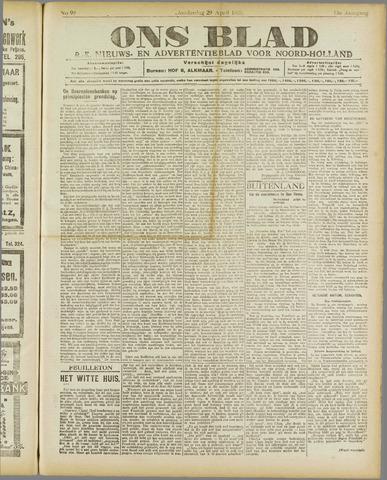 Ons Blad : katholiek nieuwsblad voor N-H 1920-04-29