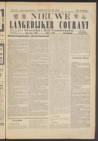 Nieuwe Langedijker Courant 1930-06-17