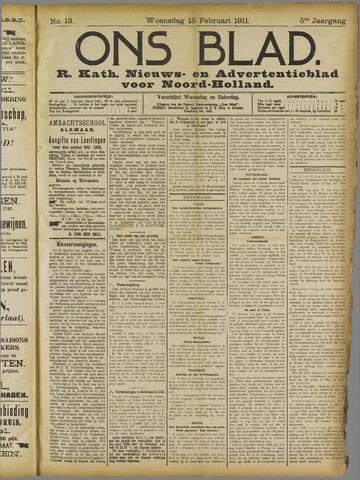 Ons Blad : katholiek nieuwsblad voor N-H 1911-02-15