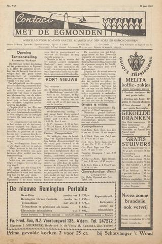 Contact met de Egmonden 1962-06-21