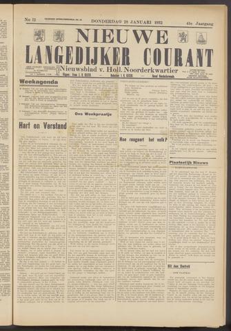 Nieuwe Langedijker Courant 1932-01-28