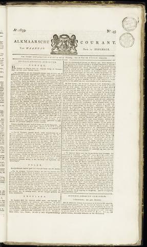 Alkmaarsche Courant 1839-11-11
