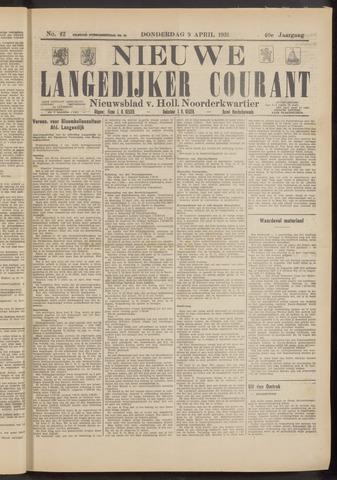 Nieuwe Langedijker Courant 1931-04-09
