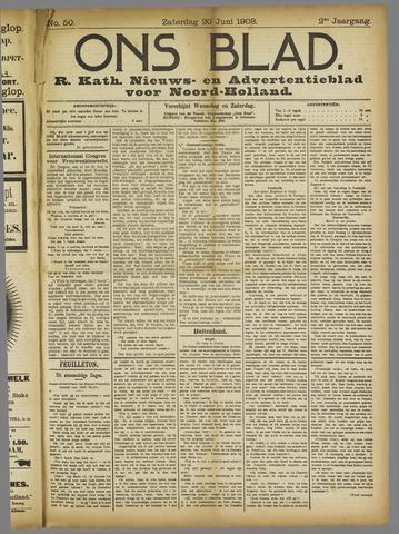 Ons Blad : katholiek nieuwsblad voor N-H 1908-06-20