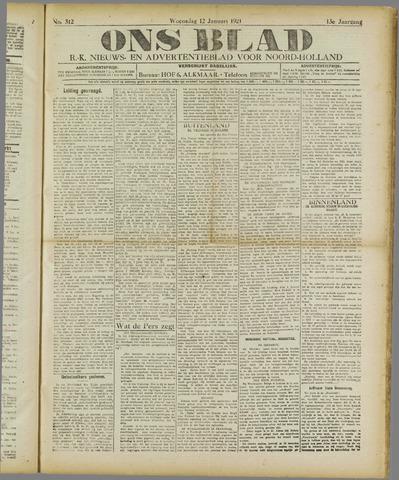 Ons Blad : katholiek nieuwsblad voor N-H 1921-01-12