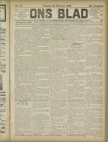 Ons Blad : katholiek nieuwsblad voor N-H 1918-02-19