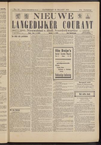 Nieuwe Langedijker Courant 1931-03-21