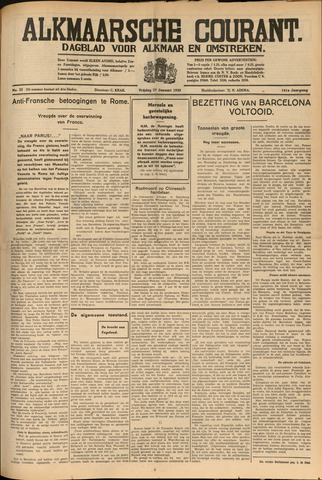 Alkmaarsche Courant 1939-01-27