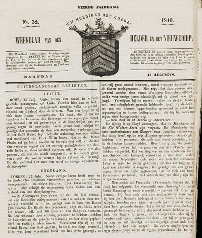 Weekblad van Den Helder en het Nieuwediep 1846-08-10