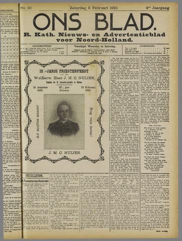 Ons Blad : katholiek nieuwsblad voor N-H 1910-02-05