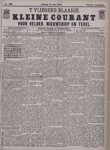 Vliegend blaadje : nieuws- en advertentiebode voor Den Helder 1881-06-14
