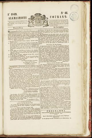 Alkmaarsche Courant 1849-11-12