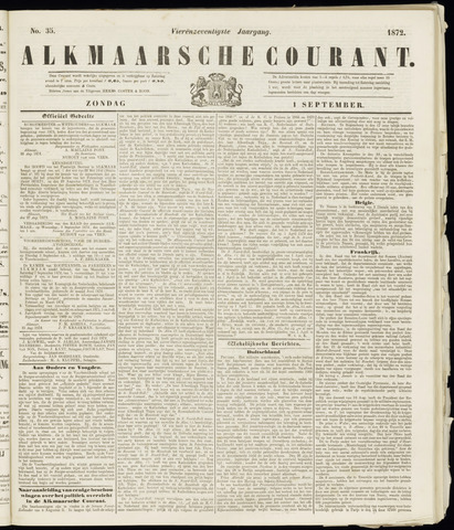 Alkmaarsche Courant 1872-09-01