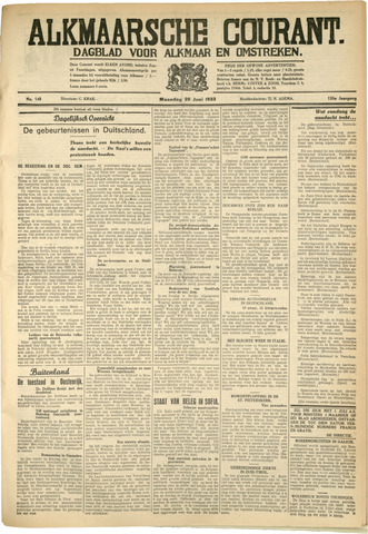 Alkmaarsche Courant 1933-06-26