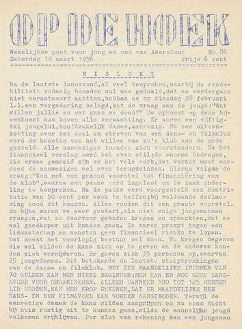 Op De Hoek, weekblad voor Akersloot 1956-03-10