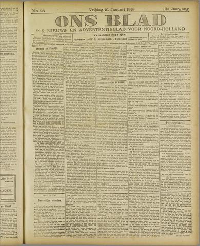 Ons Blad : katholiek nieuwsblad voor N-H 1919-01-31
