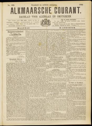 Alkmaarsche Courant 1906-08-13