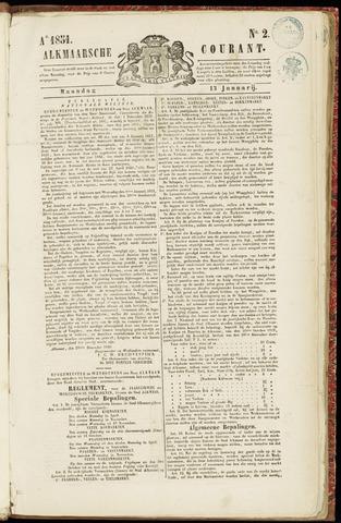 Alkmaarsche Courant 1851-01-13