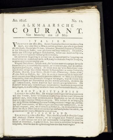 Alkmaarsche Courant 1806-05-26