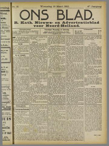 Ons Blad : katholiek nieuwsblad voor N-H 1910-03-16