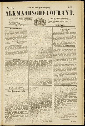 Alkmaarsche Courant 1886-08-27