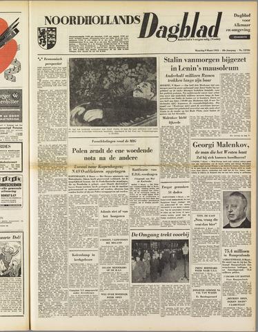 Noordhollands Dagblad : dagblad voor Alkmaar en omgeving 1953-03-09
