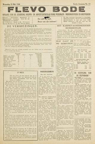 Flevo-bode: nieuwsblad voor Wieringen-Wieringermeer 1946-05-22