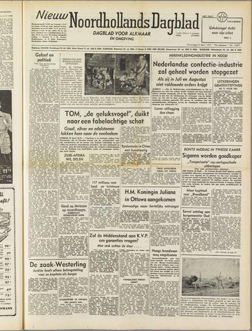 Nieuw Noordhollandsch Dagblad : voor Alkmaar en omgeving 1952-04-23