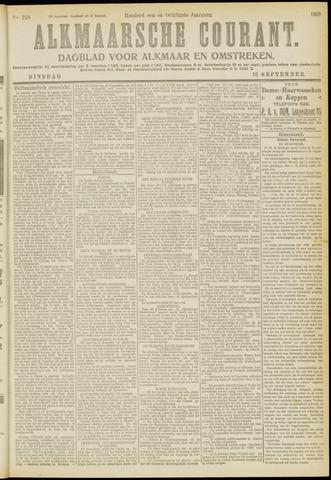 Alkmaarsche Courant 1919-09-16