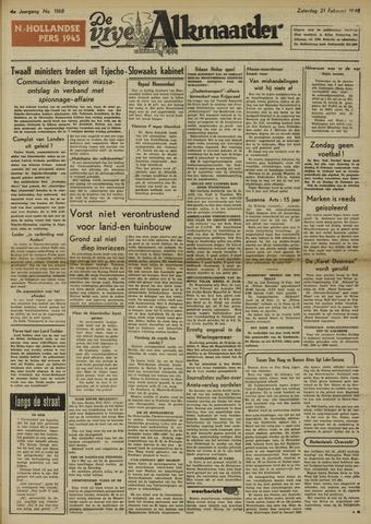 De Vrije Alkmaarder 1948-02-21