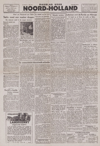Dagblad Noord-Holland, Schager editie 1943-05-24