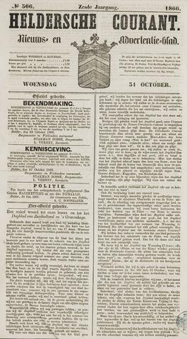 Heldersche Courant 1866-10-31