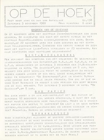 Op De Hoek, weekblad voor Akersloot 1960-12-03