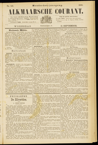 Alkmaarsche Courant 1898-09-21