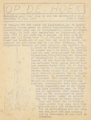 Op De Hoek, weekblad voor Akersloot 1954-07-10