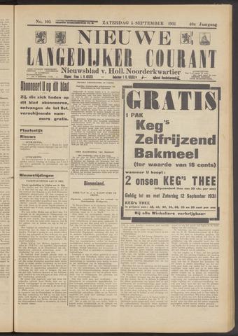 Nieuwe Langedijker Courant 1931-09-05