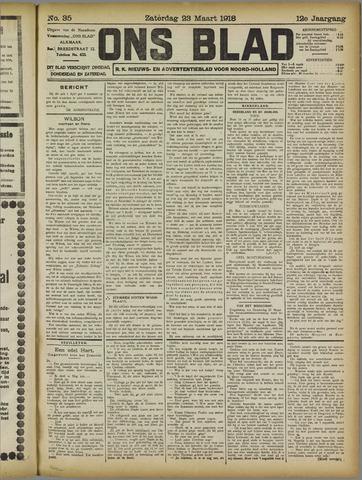 Ons Blad : katholiek nieuwsblad voor N-H 1918-03-23