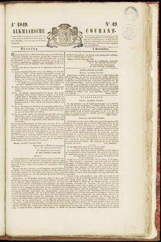 Alkmaarsche Courant 1849-12-03