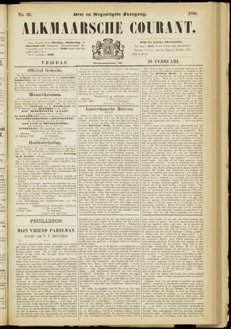 Alkmaarsche Courant 1891-02-20