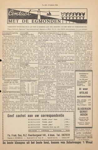 Contact met de Egmonden 1964-10-15