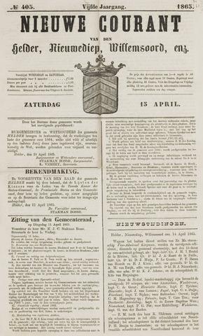 Nieuwe Courant van Den Helder 1865-04-15