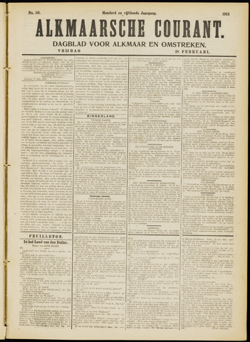 Alkmaarsche Courant 1913-02-28