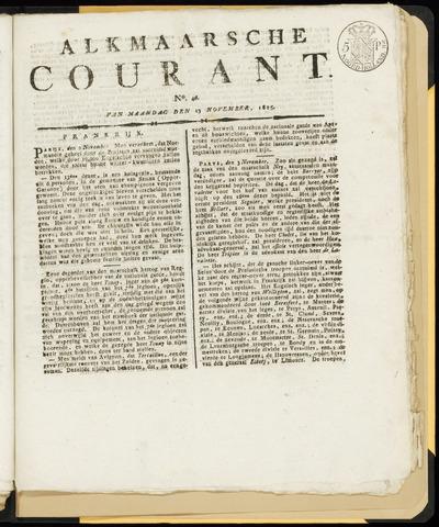 Alkmaarsche Courant 1815-11-13