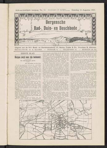 Bergensche bad-, duin- en boschbode 1937-08-14