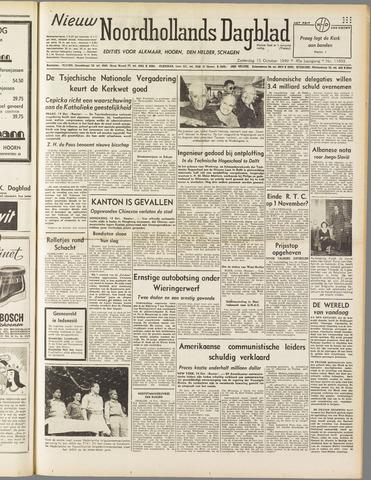 Nieuw Noordhollandsch Dagblad : voor Alkmaar en omgeving 1949-10-15