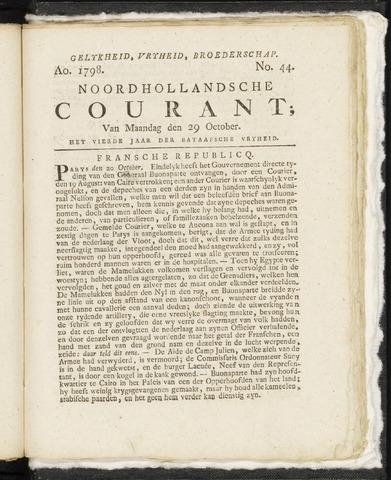 Noordhollandsche Courant 1798-10-29
