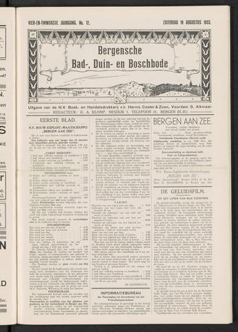 Bergensche bad-, duin- en boschbode 1933-08-19