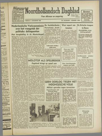 Nieuw Noordhollandsch Dagblad : voor Alkmaar en omgeving 1946-08-09
